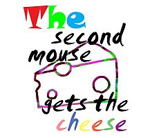The second mouse gets the cheese Photographic Print