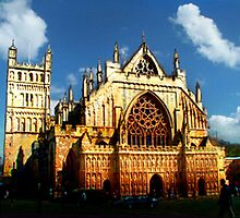 HDR Exeter Cathedral - After Monet - Rouen Cathedral by Simon Groves