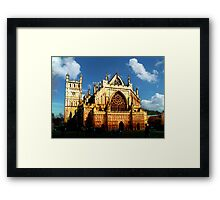 HDR Exeter Cathedral - After Monet - Rouen Cathedral Framed Print