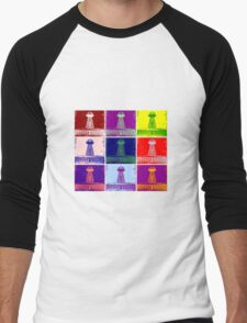 Funky Tesla Tower  Men's Baseball ¾ T-Shirt