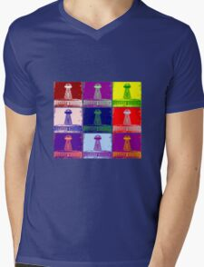 Funky Tesla Tower  Mens V-Neck T-Shirt