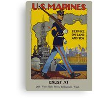 Vintage US Marines Poster Canvas Print