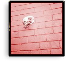 Red wall red basket red spidey Canvas Print