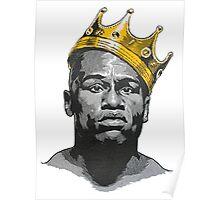 Floyd Mayweather King Of Boxing Wears Kings Crown Poster