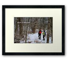 Winter In Wisconsin Framed Print