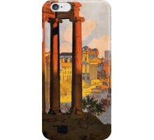 Vintage Rome Travel Poster iPhone Case/Skin