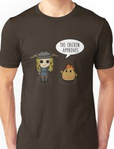 """""""The Chicken Approves"""" HTTYD Race to the Edge Unisex T-Shirt"""