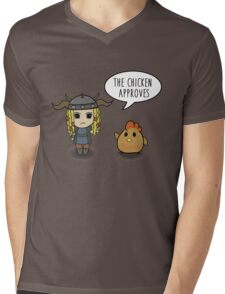 """The Chicken Approves"" HTTYD Race to the Edge Mens V-Neck T-Shirt"