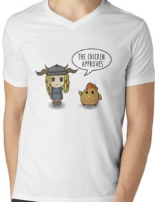 """""""The Chicken Approves"""" HTTYD Race to the Edge Mens V-Neck T-Shirt"""