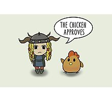 """""""The Chicken Approves"""" HTTYD Race to the Edge Photographic Print"""