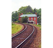 Jonesborough, Tennessee - Curved Train Tracks Photographic Print