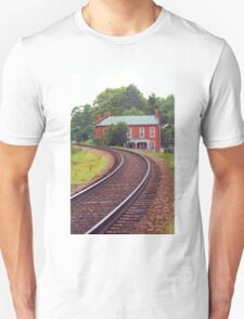 Jonesborough, Tennessee - Curved Train Tracks T-Shirt