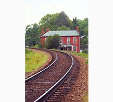 Jonesborough, Tennessee - Curved Train Tracks Unisex T-Shirt
