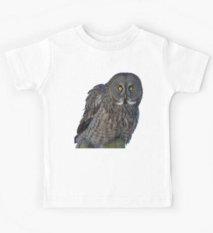 Great Gray Owl Portrait II Kids Tee