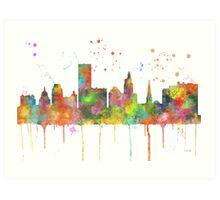 Providence, Rhode Island Skyline  Art Print