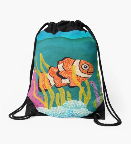 Clownfish Duvet  Drawstring Bag