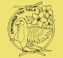 Floral Tiki Bird  Kids Tee