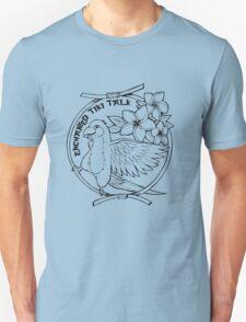 Floral Tiki Bird  Unisex T-Shirt