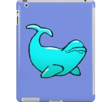 Blue Beluga Whale iPad Case/Skin