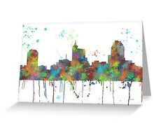 Raleigh, North Carolina Skyline Greeting Card