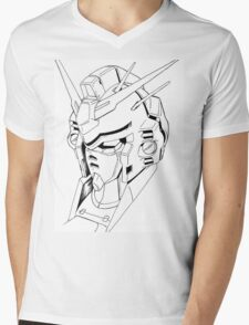 Gundam Mech Mens V-Neck T-Shirt