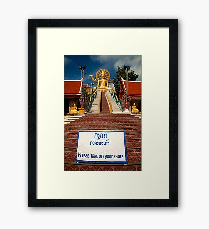 No Shoes Please Framed Print