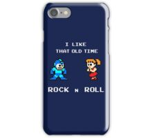 Old Time Rock and Roll - Megaman 8bit Classic iPhone Case/Skin