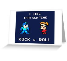Old Time Rock and Roll - Megaman 8bit Classic Greeting Card