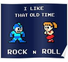 Old Time Rock and Roll - Megaman 8bit Classic Poster