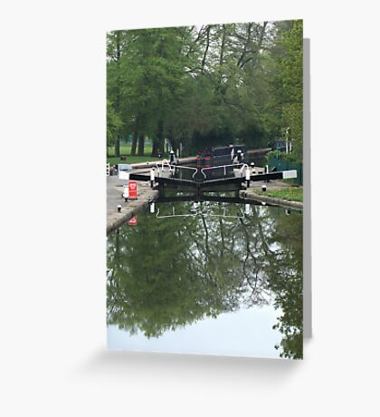Cowley Lock on the Grand Union canal Greeting Card