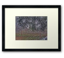 Rain On Kitchen Screen Framed Print