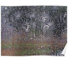 Rain On Kitchen Screen Poster