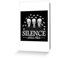 Doctor Who- The Silence Greeting Card