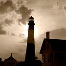 Tybee Lighthouse in sepia by Charlie