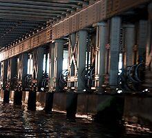 under a bridge by Andre Baljeu