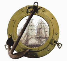 Clipper Through A Porthole by Vy Solomatenko