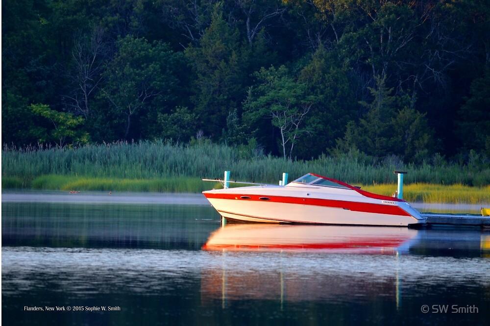 Motorboat | Flanders Bay, New York  by © Sophie W. Smith