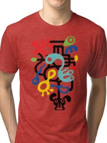 Dog Dreams - on lights Tri-blend T-Shirt