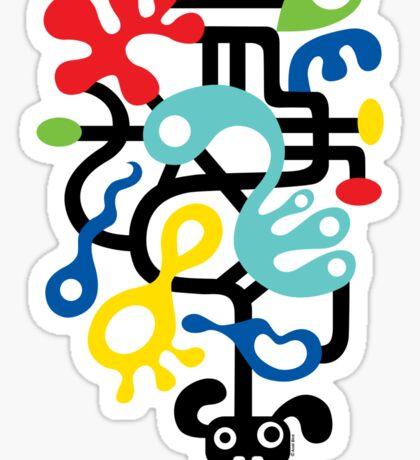 Dog Dreams - on lights Sticker