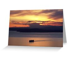 Sunset Cruise, Seattle, Washington Greeting Card