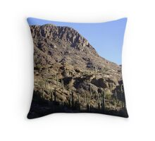 Cactus Desert Mountains, Tucson Throw Pillow
