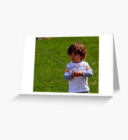 A CHILDS WORLD Greeting Card
