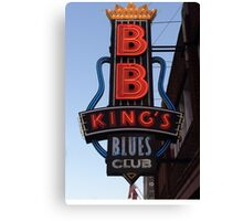 Neon Sign ~ BB Kings Blues Club Canvas Print