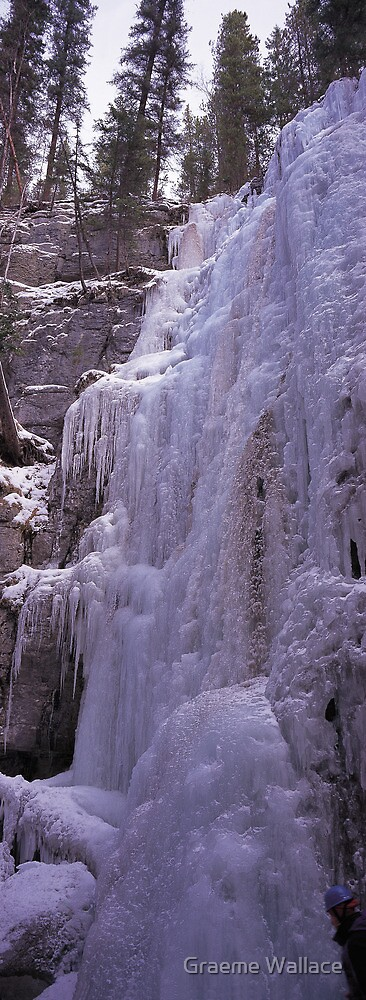 Maligne Ice Wall by Graeme Wallace