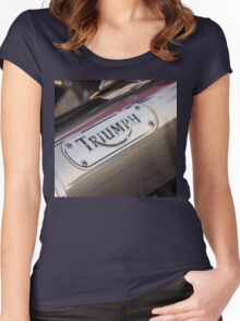 Triumph TT600 exhaust Women's Fitted Scoop T-Shirt