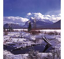 Vermillion Lake Freeze Photographic Print