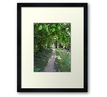Footpath to the Bus Stop Framed Print