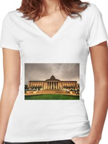 Manitoba Legislative Women's Fitted V-Neck T-Shirt