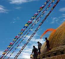 Painting the Stupa by Thomas Cox
