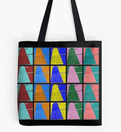 Pop art Daleks - variant 2 Tote Bag